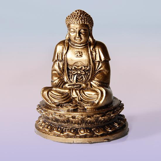 Фигурка Будда под бронзу 5,5 см (0.1 кг) 43 142 фигурка смеющийся будда бог богатства бронза о бали 1107590