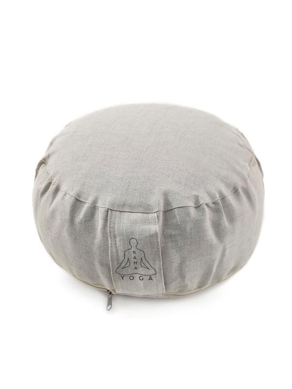 Подушка для медитации Zodiac Рамайога Лен (2.5 кг, бежевый) подушка для медитации simple 2 5 кг зеленый