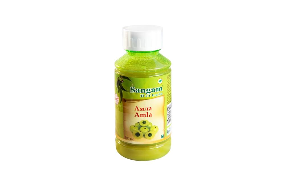 Сок амла Sangam Herbals ( Sangam herbals 500 мл ) сок агуша яблоко и персик с мякотью с 3 лет 500 мл