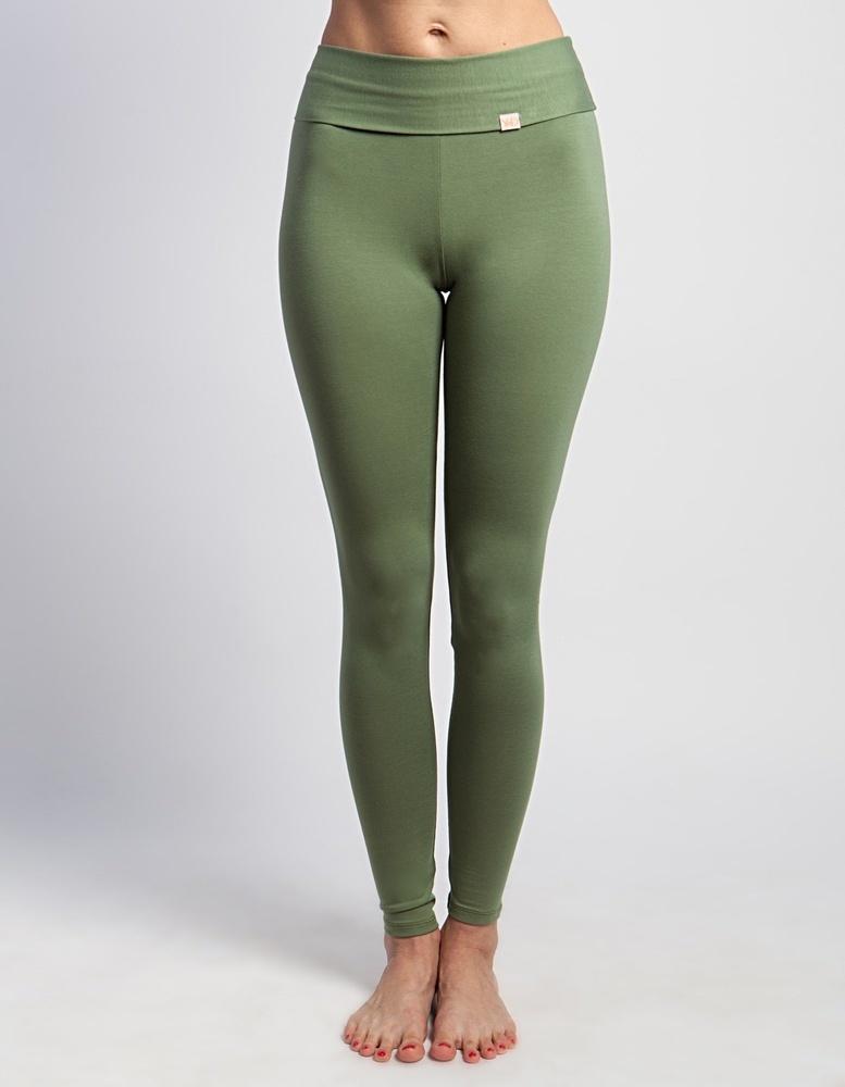 Лосины женские длинные YogaDress (0,3 кг, XS(42), зеленый / оливковый)