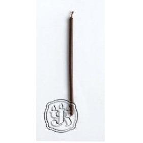 Свеча восковая часовая коричневая 15 см (коричневый) цена и фото
