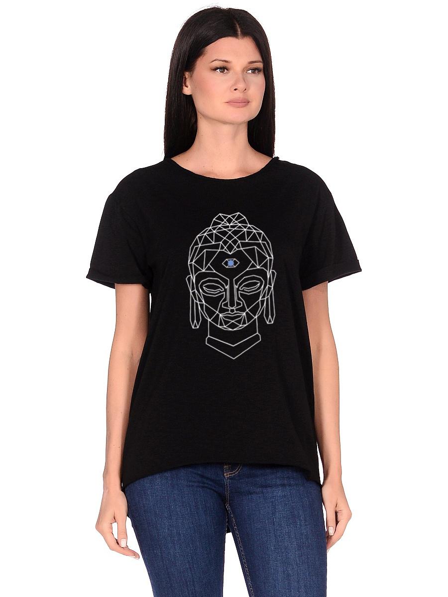 Футболка женская Budda (0,2 кг, M (46), черный) футболка женская oodji ultra цвет черный бирюзовый 14707001 17 46154 2973f размер m 46