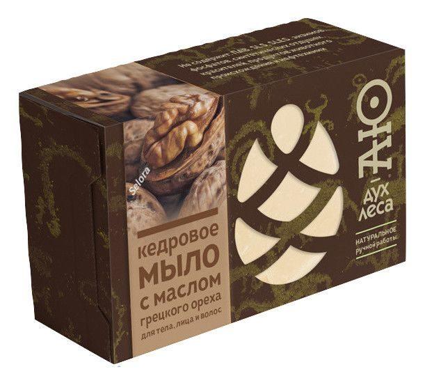 Фото - Мыло кусковое кедровое с маслом грецкого ореха Аю-дух леса (115 г) мыло кусковое кедровое с льняным маслом аю дух леса 115 г