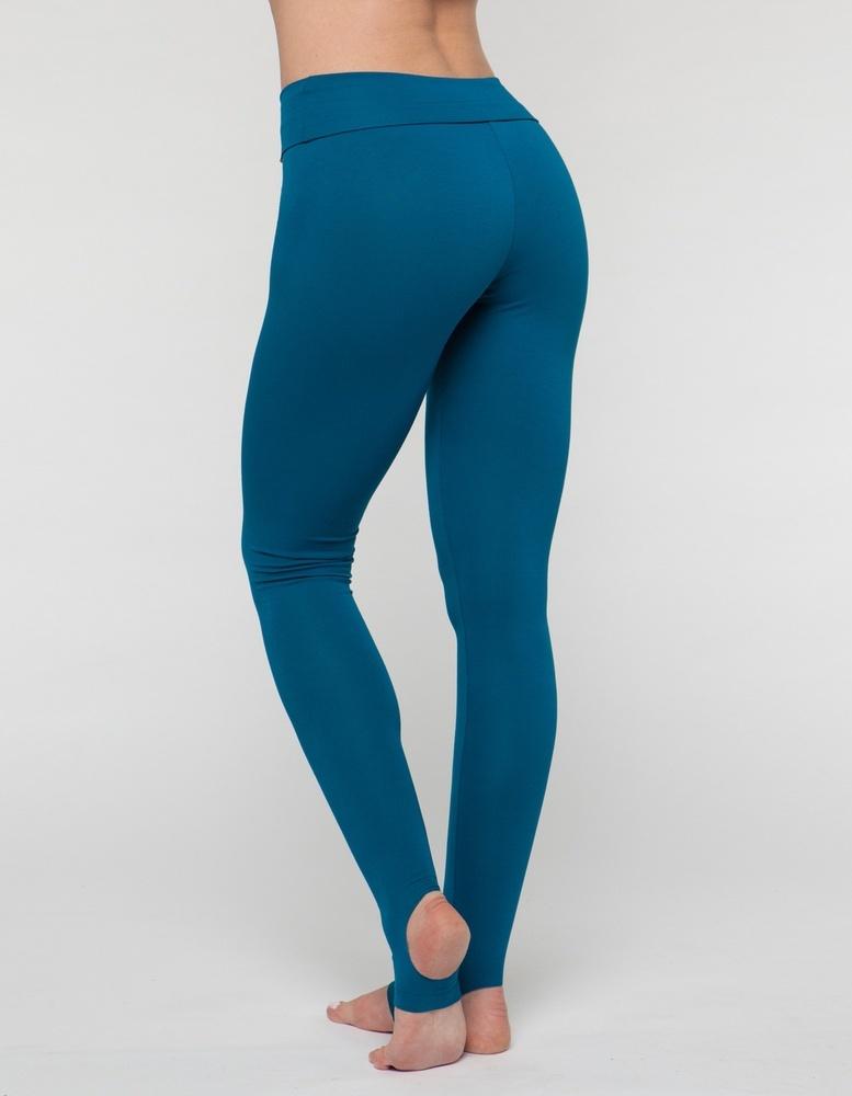 Леггинсы с открытой пяткой Fit Flow YogaDress (0,3 кг, S(44), бирюзовый  морская волна)