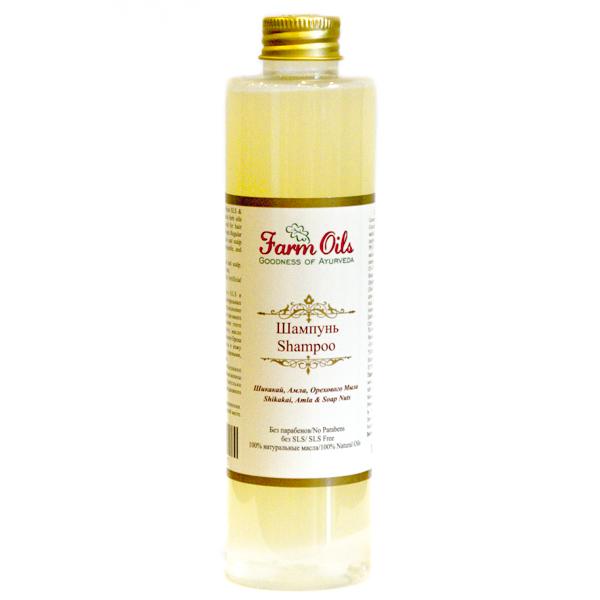 Шампунь с маслом шикакай, амлой и мыльным орехом для сухих волос Farm Oils (250 мл) шампунь с маслом шикакай амлой для жирных волос farm oils farm oils 250 мл