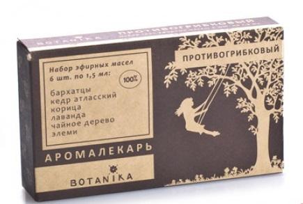 Противогрибковый набор эфирных масел 6х1,5мл Ботаника (10 мл)
