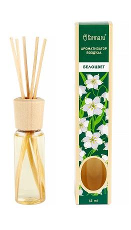 Ароматизатор тростниковый Белоцвет Elfarma (45 мл) elfarma ароматизатор воздуха с натуральным эфирным маслом гортензия 45 мл