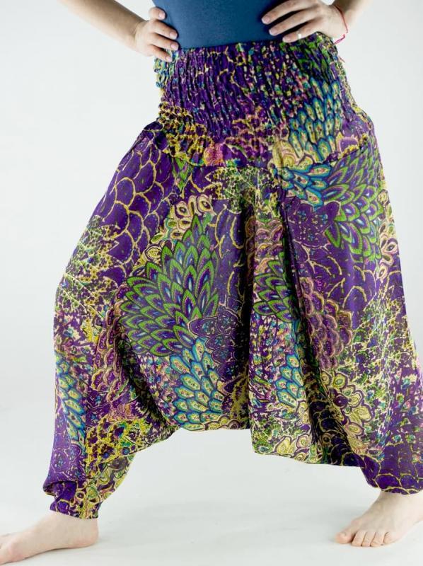 Афгани для йоги Орнамент хлопок (0,3 кг, OS (42-46), темно-зеленый)