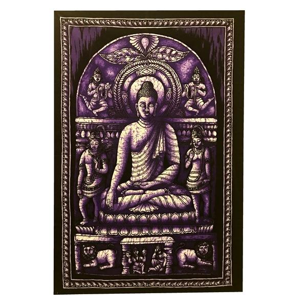 Панно тканевое будда в медитации фиолетовый фон 80х107см (фиолетовый)