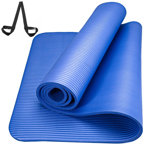 Коврик для йоги и фитнеса NBR GO DO 1 см (183 см, 1 см, черный, 60 см) коврик для йоги и фитнеса nbr go do 1 см 183 см 1 см черный 60 см