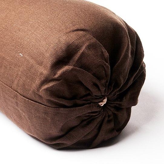 Чехол для болстера Айенгара Натуральный Лен (75 см, шоколадный) чехол