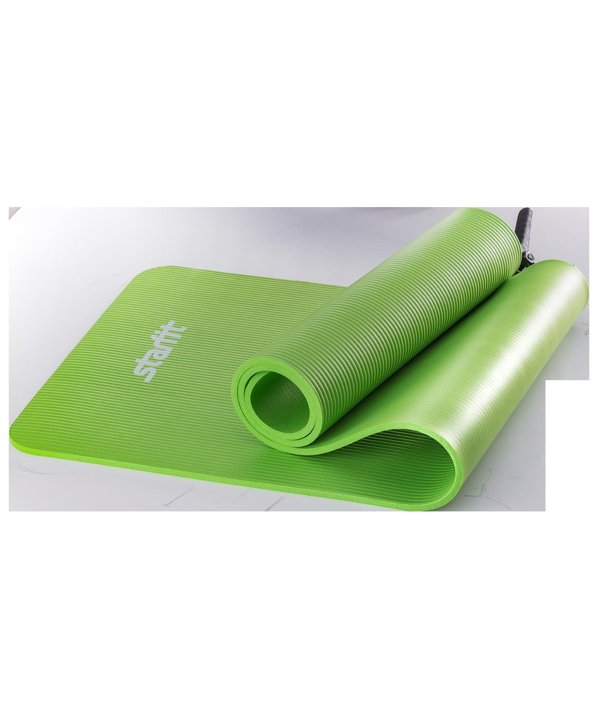 Коврик для йоги и фитнеса Yoga Star 1см (183 см, 1 см, зеленый, 60 см)