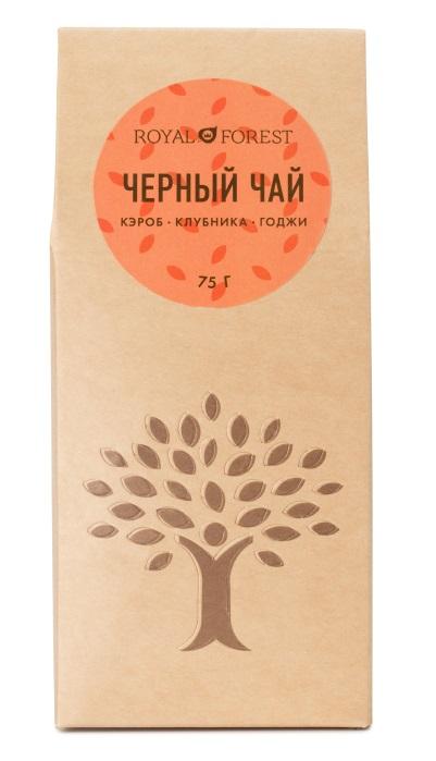 Чай черный (кэроб, клубника, годжи) Royal Forest (75 г)