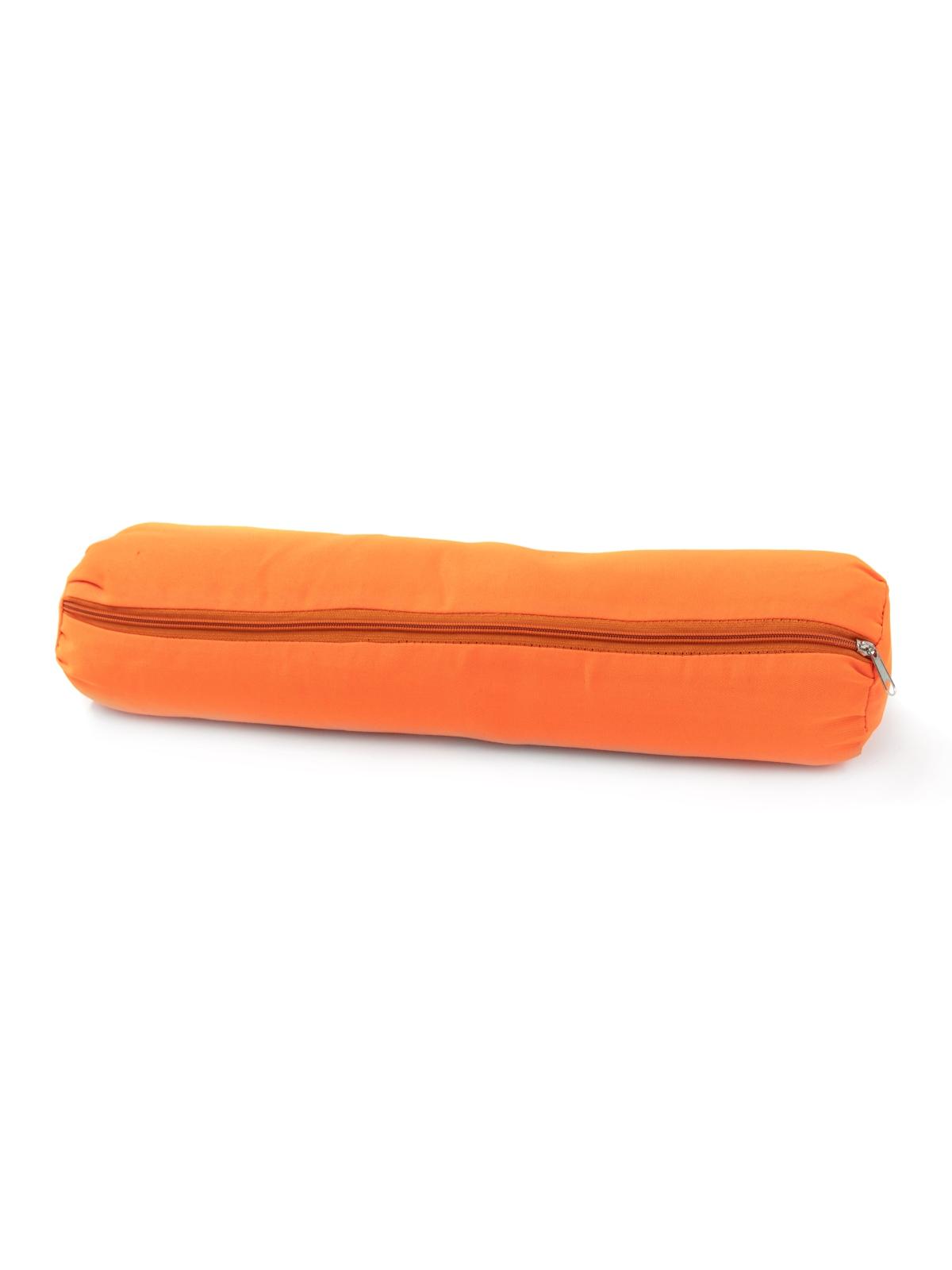 Валик из гречихи с хлопковым чехлом 50х10см (Нет, 1 кг, 10 см, 50 см, оранжевый)