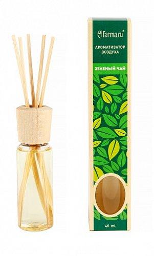 Ароматизатор тростниковый Зеленый чай Elfarma (45 мл) elfarma ароматизатор воздуха с натуральным эфирным маслом апельсин 45 мл