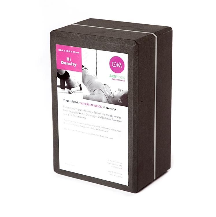 Кирпич для йоги из EVA-пены Yoga brick Supersize (10 см, 23 см, серый, 15 см) eva 15 5 19