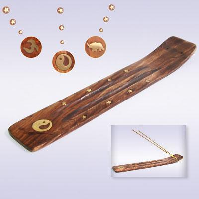 Подставка под благовония деревянная лыжа двойная шириной 5см (H060)