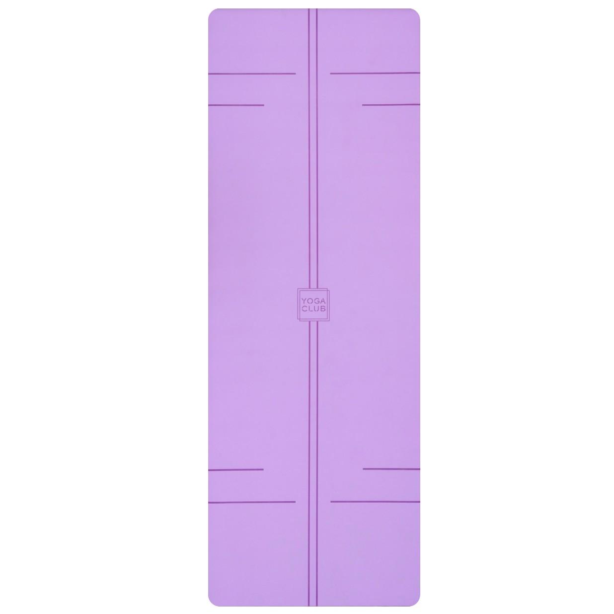 Коврик для йоги Pro YC из полиуретана и каучука (2,3 кг, 185 см, 4.5 мм, фиолетовый, 68см) цена