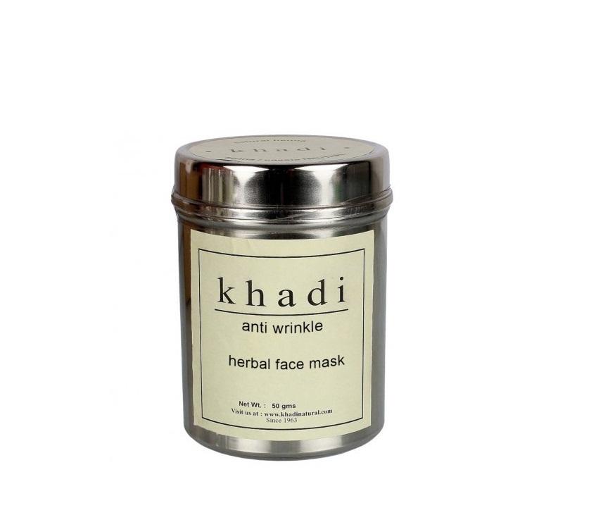 Маска для лица против морщин в порошке Khadi Natural