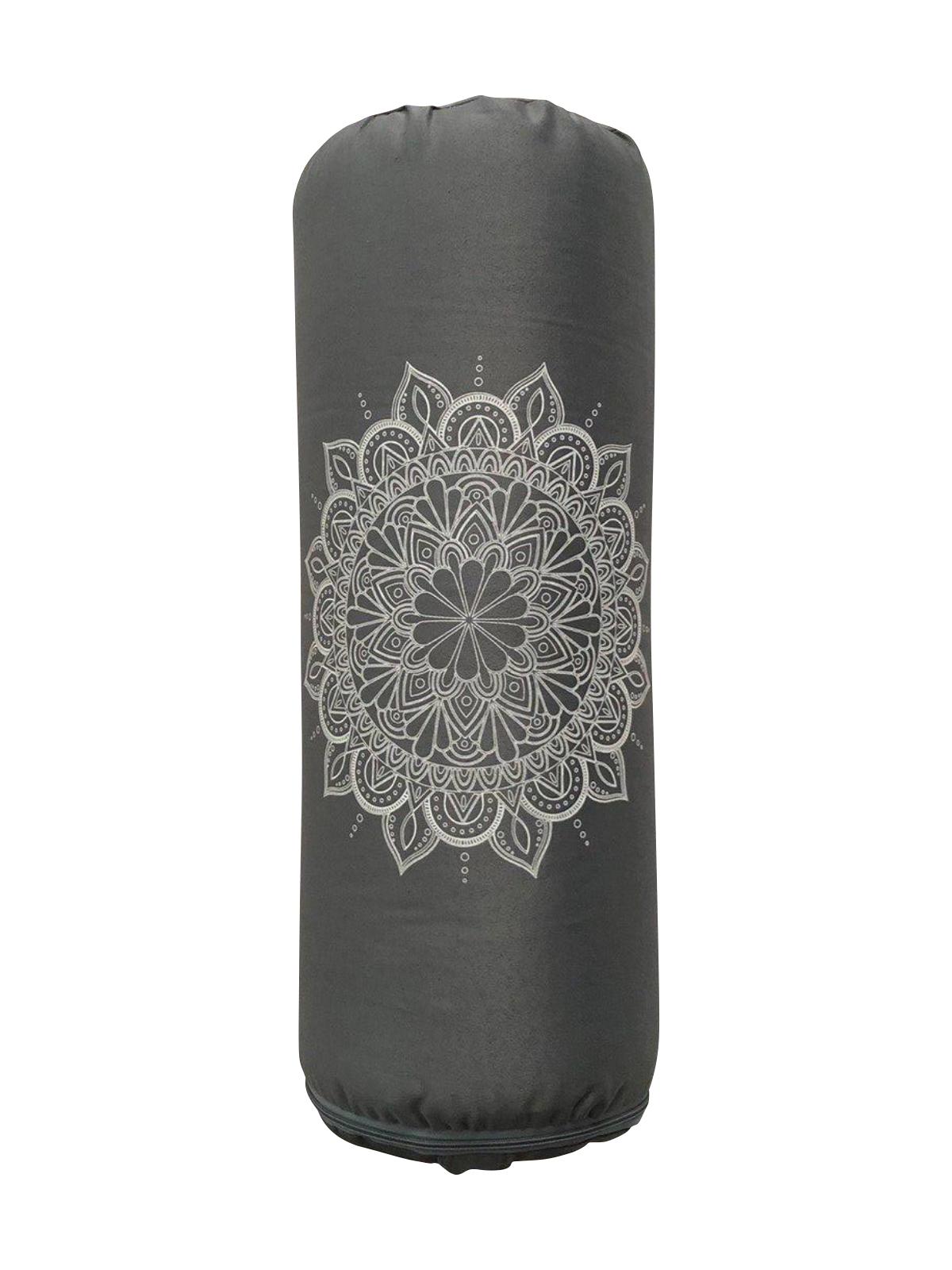 Фото - Болстер для йоги из гречихи Мандала Рамайога (5 кг, 60 см, серый) болстер для йоги айенгара шерстяной с хлопковым чехлом 75см рамайога 2 кг 75 см зеленый