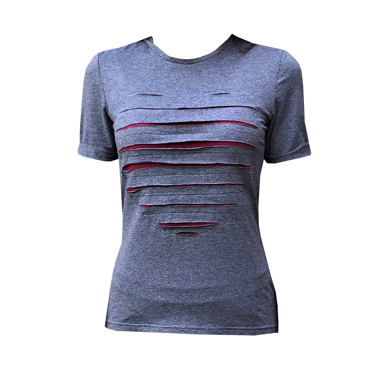 Футболка для йоги женская Yoga Heart Рамайога (0,3 кг, M (46), темно-серый) футболка для йоги женская yoga heart рамайога 0 3 кг xs 42 темно серый