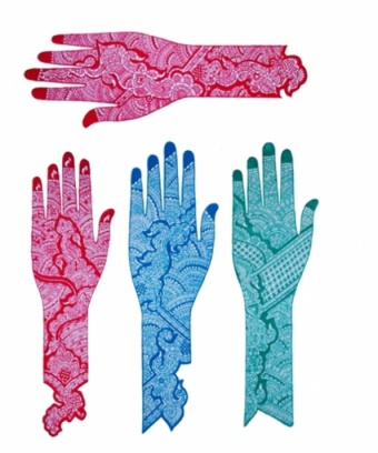 Трафарет для биотату (менди, мехенди) Ладошка + Запястье самоклеющийся экспресс хна для мехенди рыжая pranastudio