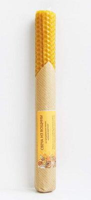 Свеча из вощины простая 20 см, 40г, 5 часов ( желтый ) свеча из вощины с ромашкой 20х2 5см