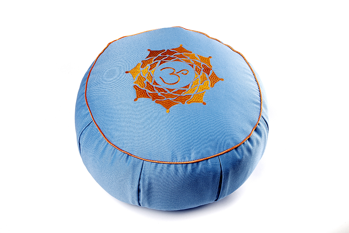 Подушка для медитации Ом (2 кг, голубой) подушка для медитации spiritual
