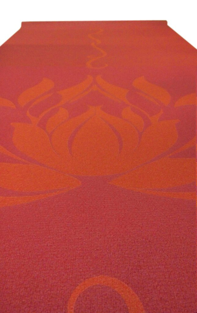 Коврик для йоги с принтом Индийский Лотос (1.2 кг, 173 см, 3 мм, бордо, 60см) цена