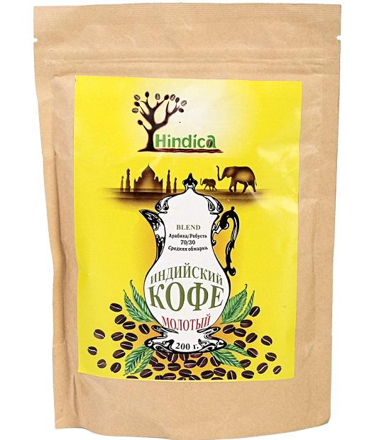 Кофе индийский молотый Espresso blend Hindica (200 г) break espresso italia кофе молотый 200 г