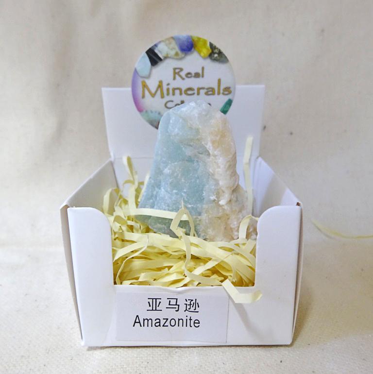 Амазонит минерал/камень в коробочке Real Minerals Collection ()