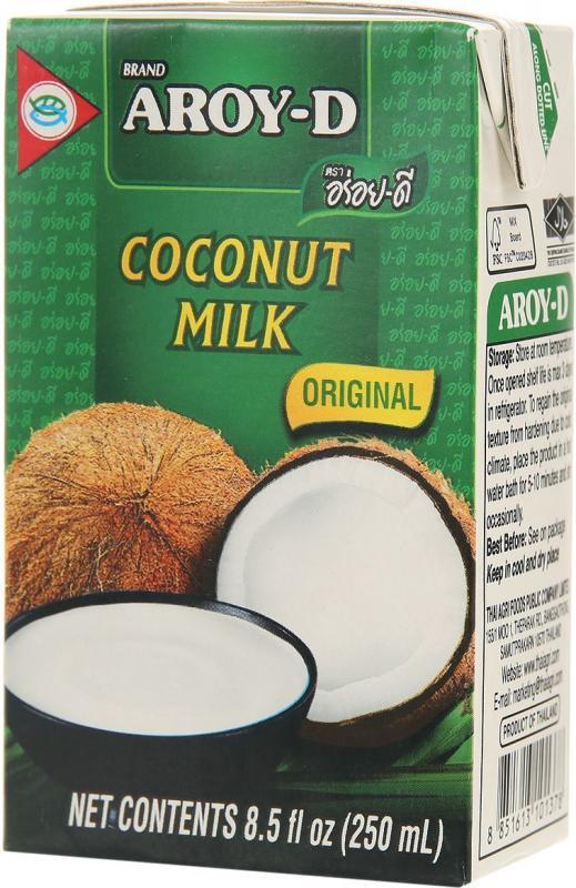 Кокосовое молоко 70% AROY-D (1 л) malee напиток кокосовое молоко 0 33 л