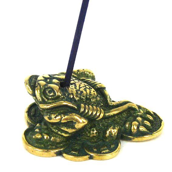 Подставка под благовония Жаба бронза 3см (0,05 кг) благовония храмовые cobra 0 05 кг