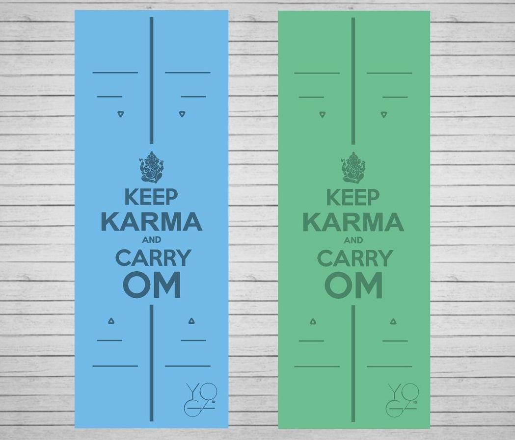 Коврик для йоги Karma ID из полиуретана и каучука (2,3 кг, 183 см, 4.5 мм, зеленый, 68см)