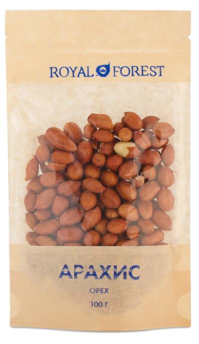 Арахис очищенный сырой Royal Forest арахис tao yongxiang 400g