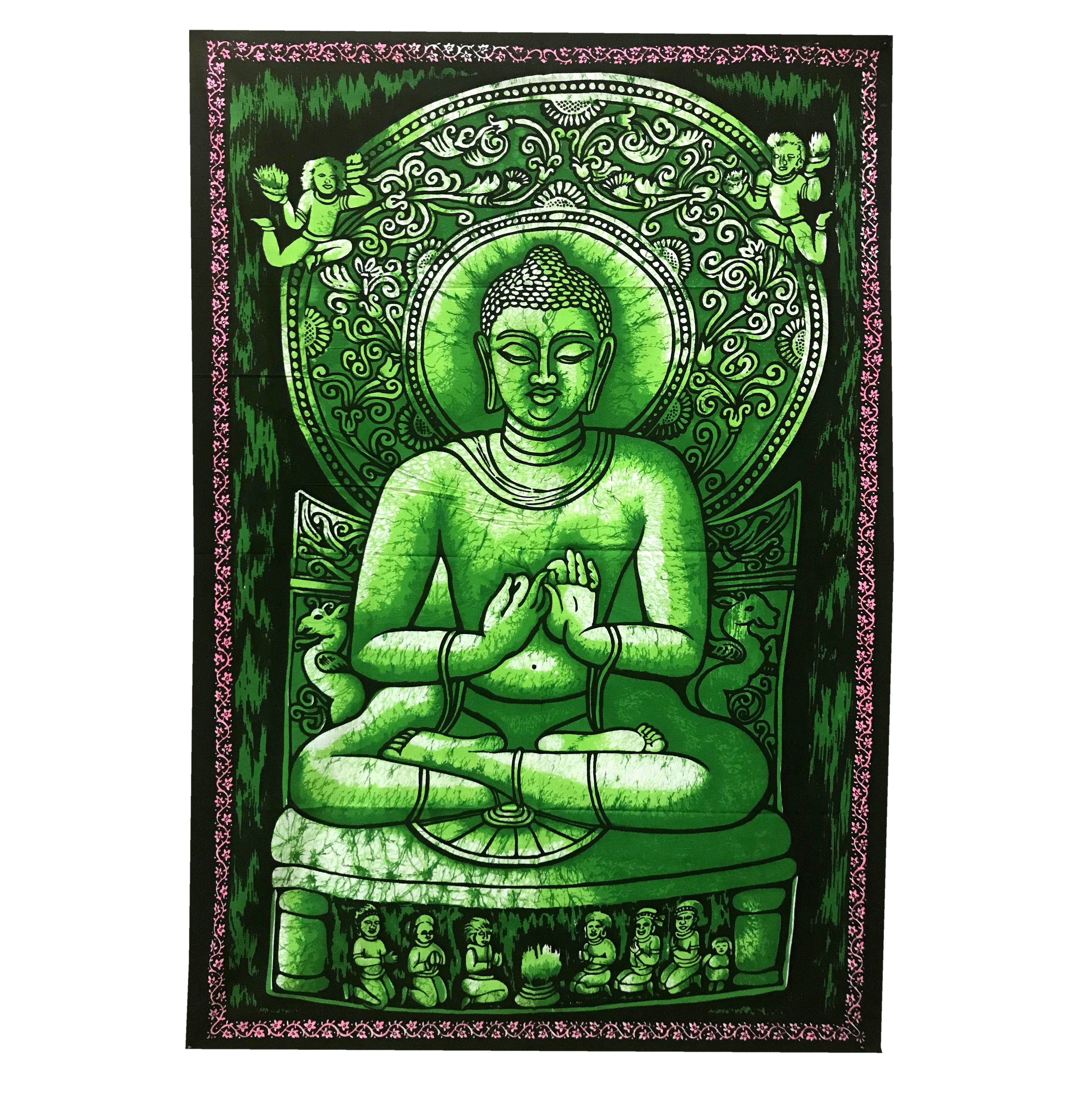 Панно тканевое будра мудра зеленый фон 80х107см (зеленый)