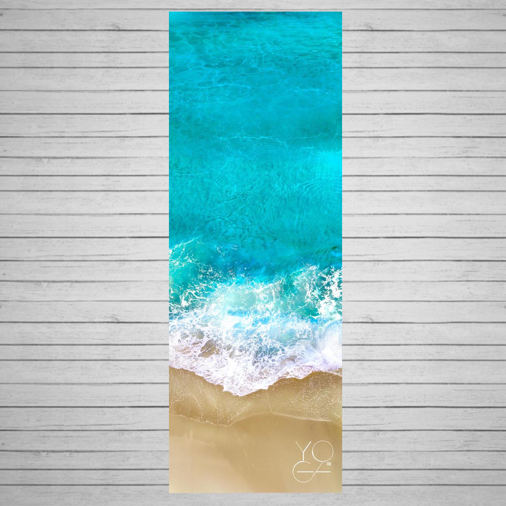 Коврик для йоги Ocean ID из микрофибры и каучука (2,3 кг, 173 см, 3 мм, 61см) цена
