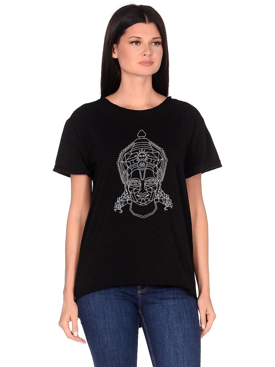 Футболка женская Rama (0,2 кг, M (46), черный) футболка женская oodji ultra цвет черный бирюзовый 14707001 17 46154 2973f размер m 46