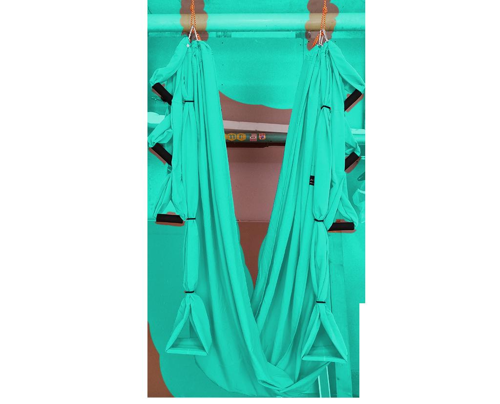 Йога-гамак AirSwing Lux (2,8 кг, 320 см, бирюзовый, 150см)