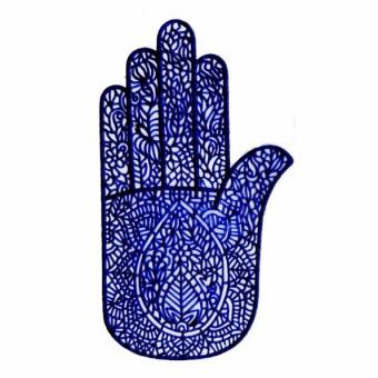 Трафарет для биотату Ладошка самоклеющийся (ладошка ) временная татуировка 6pcs 6 12 301