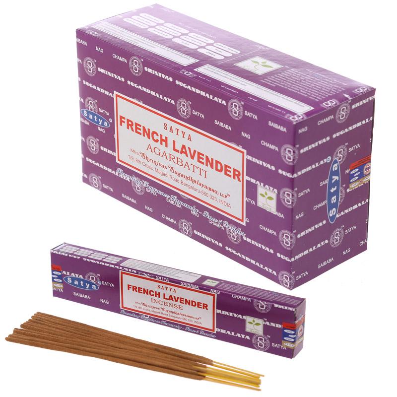 Благовония Французская Лаванда Сатья серия incense / French Lavender Satya (15 г)