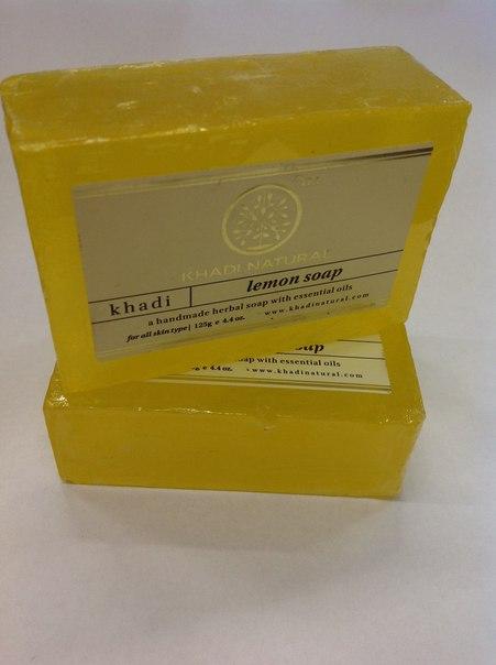 Мыло лимон Khadi natural масла grosheff массажная плитка виноградная косточка и лимон 150 гр