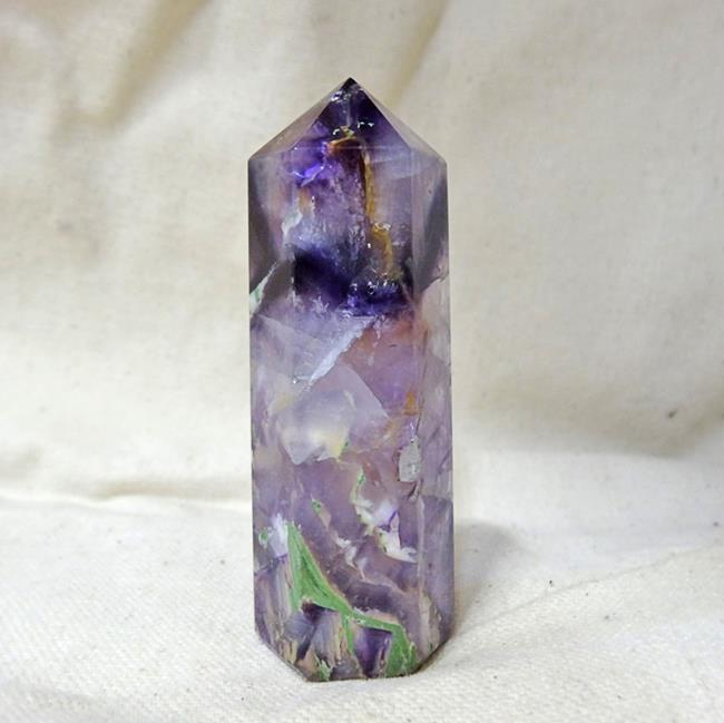 Флюорит цилиндр минеральный гармонизирующий (кристалл) большой