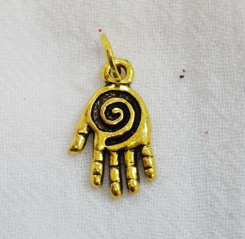 Подвеска Рука Spiral для браслетов (желтый)