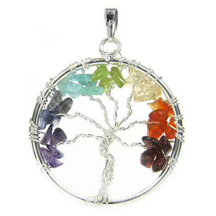 Подвеска Дерево жизни с камнями 3,7см (R424)