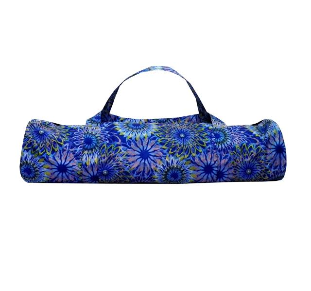 Сумка для коврика Индира, голубая (16 см, 70 см, голубой)