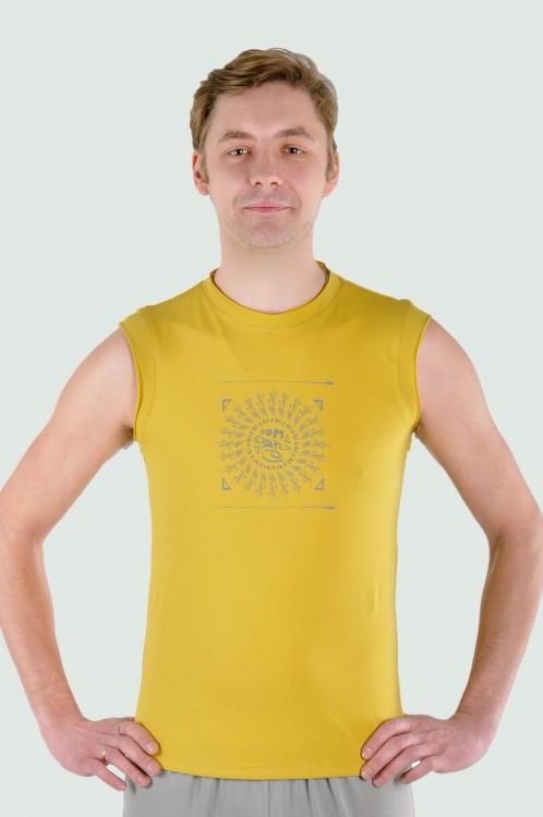 Майка мужская «Мантра» горчичный YogaDress (S (46))