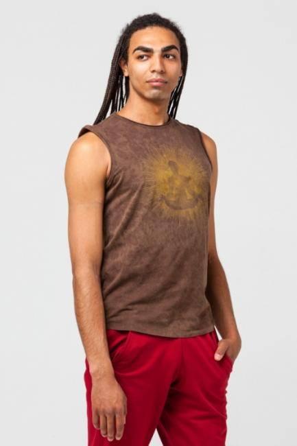 Майка мужская Ганеша  Yogadress (S (46), коричневый)