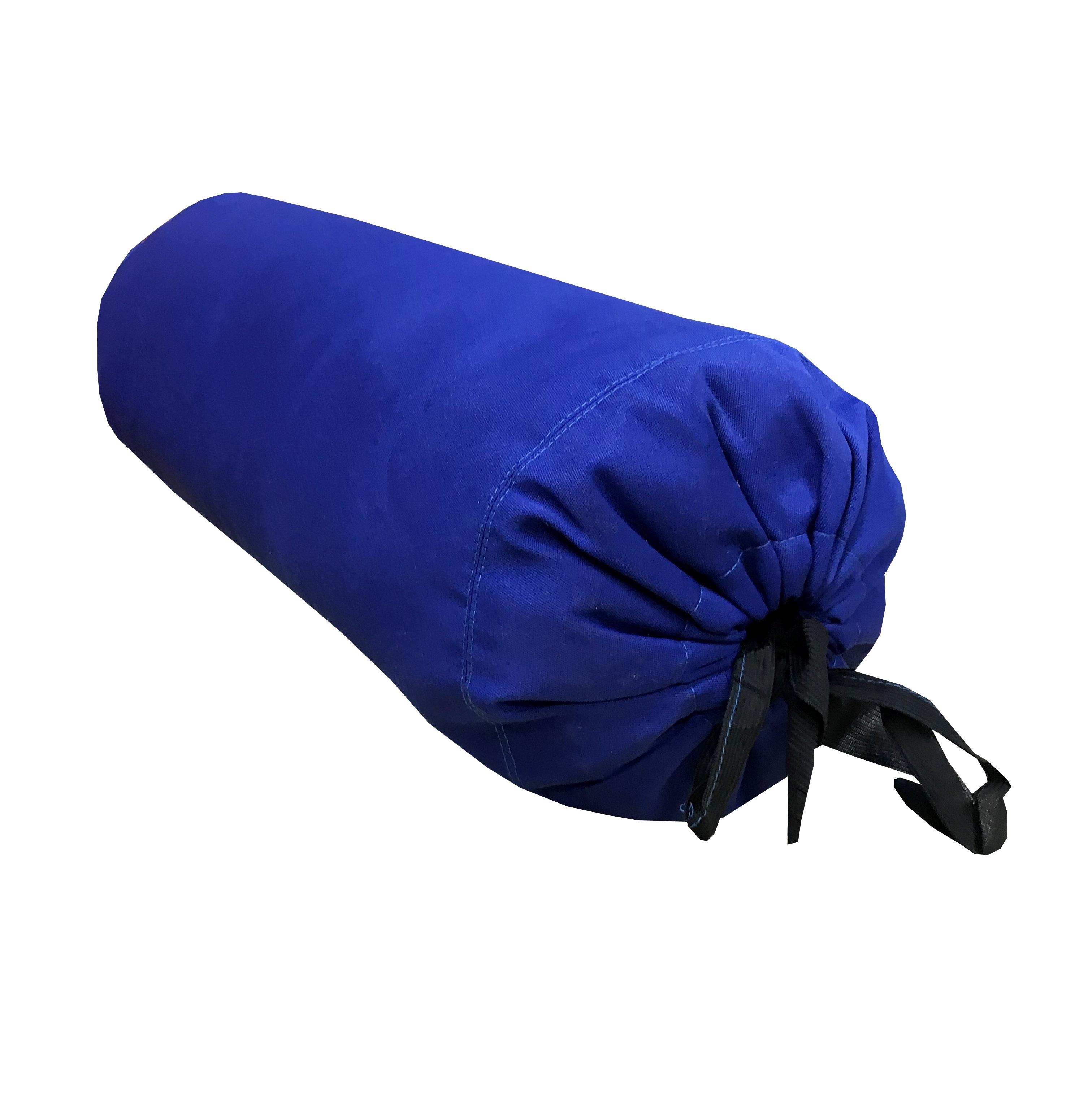Валик из гречихи хлопковый чехол с завязками (15 см, 41 см, синий) цена