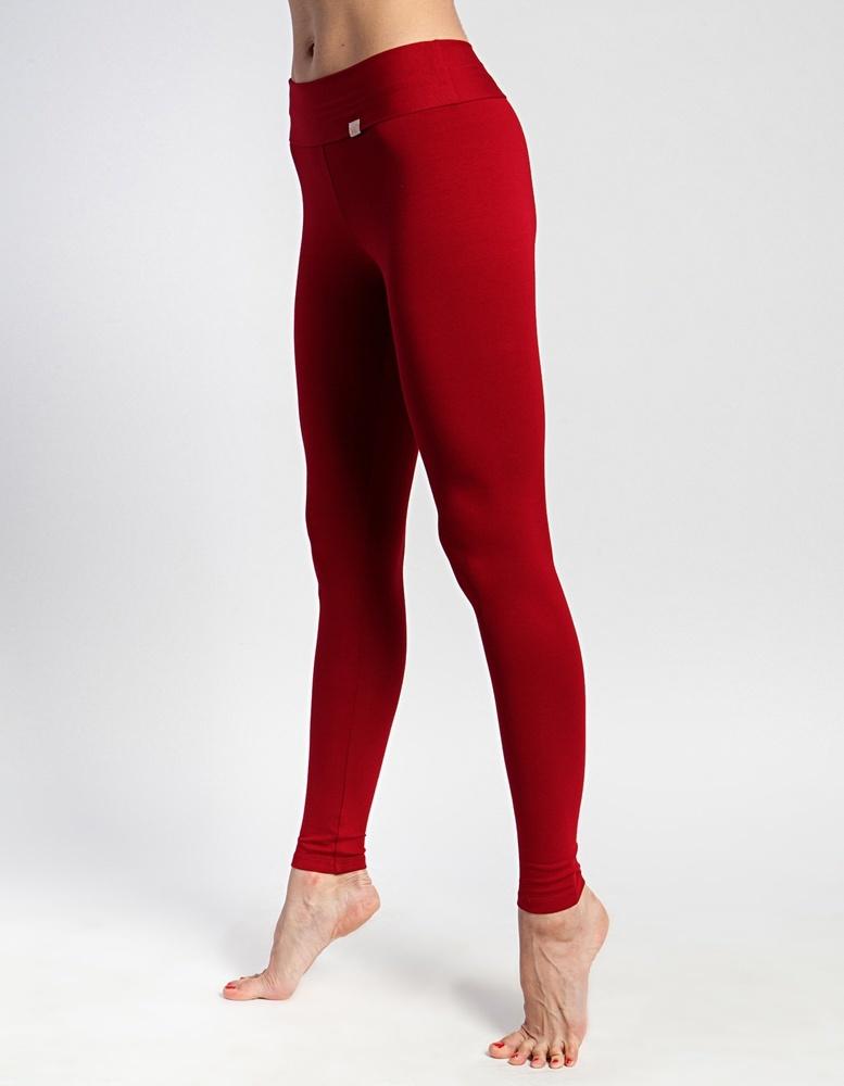 Лосины женские длинные YogaDress (0,3 кг, XS (42), красный / клюквенный)